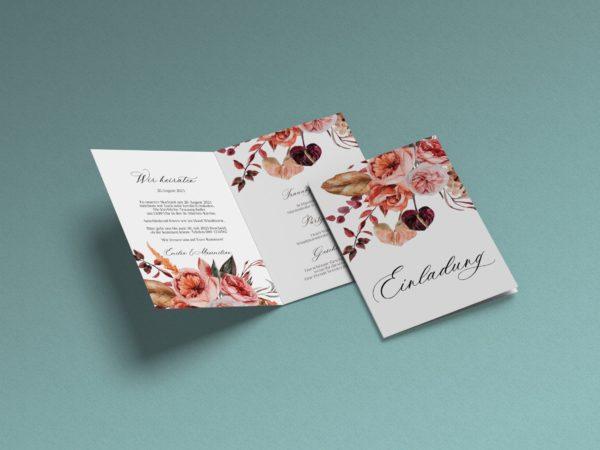Anmutige Hochzeitseinladung Scarlet