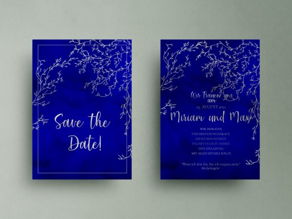 Luxuriöse  save the date karten ColorPassion Ice Blue
