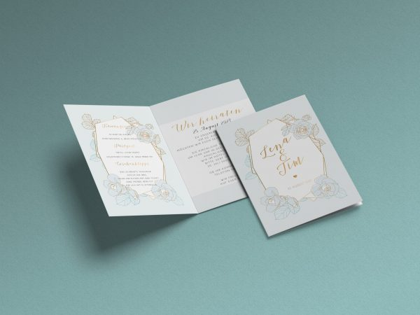 Einfache   Save-the-date Karte JSO43