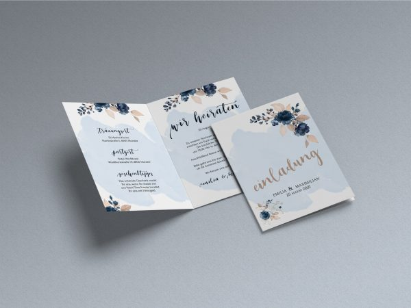 Blumen  Save-the-date Karte KSO65
