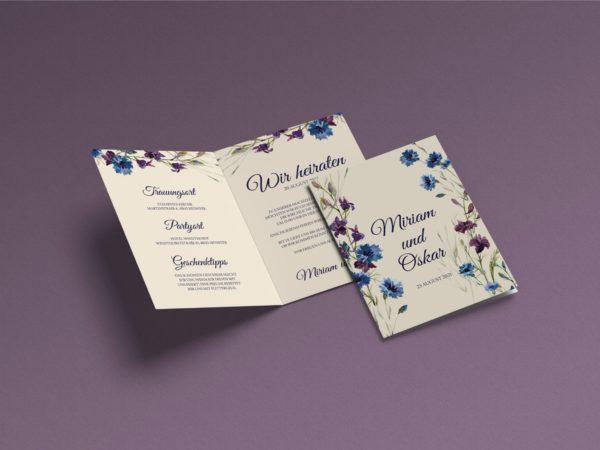 Blumen  Save-the-date Karte KSO81
