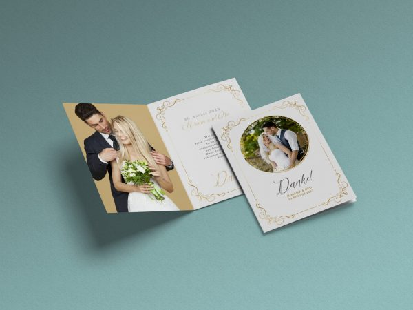 Dankeskarte Hochzeit Foto bloom