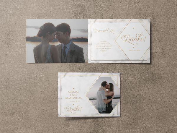 Dankeskarte Hochzeit Tender Love