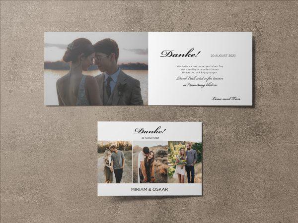 Dankeskarte Hochzeit Minimalistic