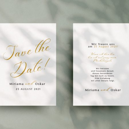 Einfache   Save-the-date Karte JSO33