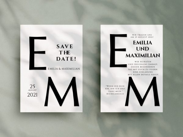 Einfache   Save-the-date Karte JSO45