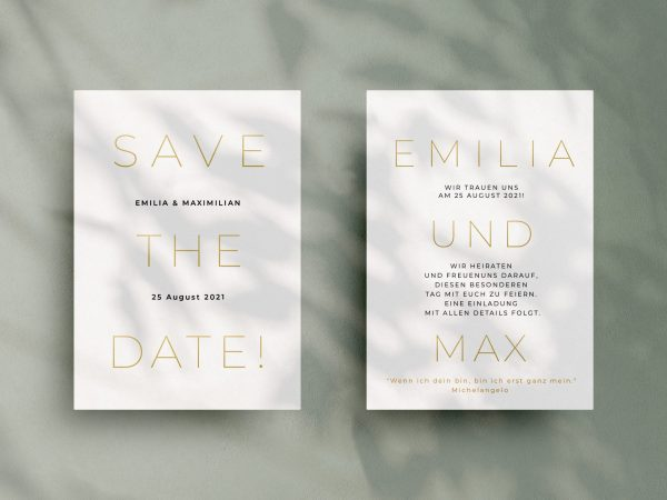 Einfache   Save-the-date Karte JSO49