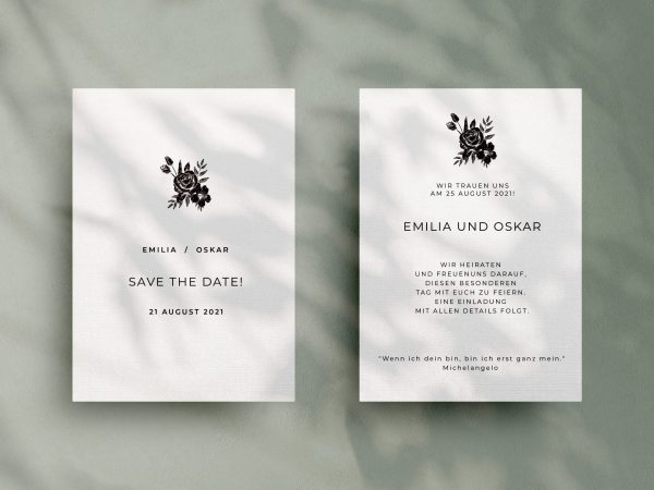 Einfache   Save-the-date Karte JSO50