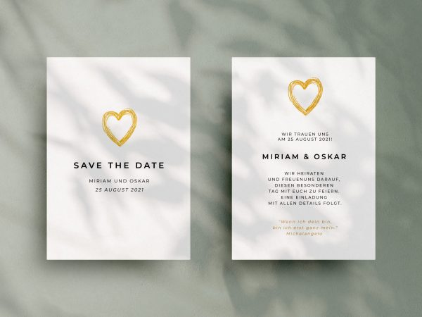 Einfache   Save-the-date Karte JSO54