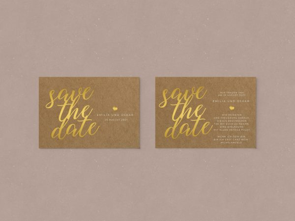 Einfache   Save-the-date Karte JSO58