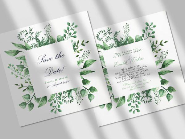 Blumen  Save-the-date Karte KSO67