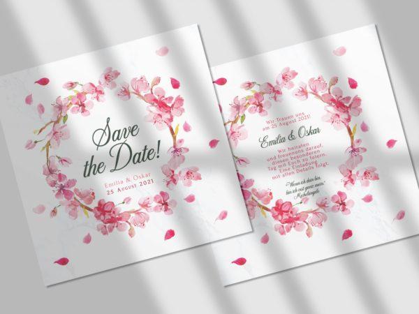 Blumen  Save-the-date Karte KSO68
