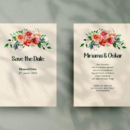 Stilvolle   Save-the-date Karte SSO77