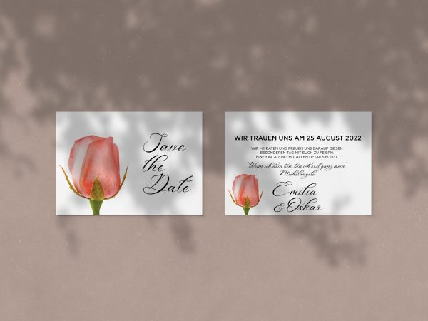 Save-the-Date Code JSO60 Einfache Save-the-Date