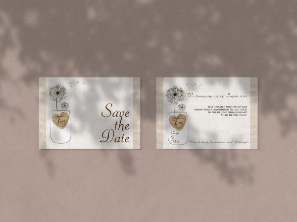 Save-the-Date-Karte NO27 - stilvolle Save-the-Date-Karte