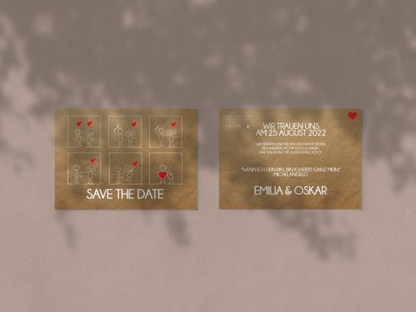 Save-the-Date SSO66 - stilvolle Save-the-Date