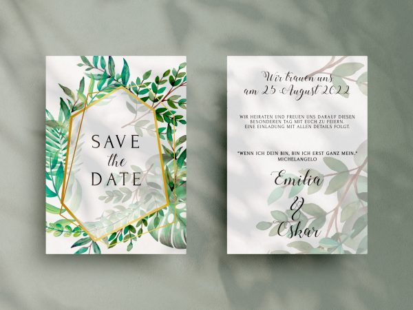 Save-the-Date Code SSO79 Moderne Save-the-Date