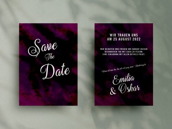 Save-the-Date Code SSO84 Moderne Save-the-Date