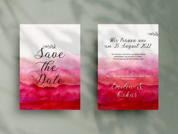 Save-the-Date Code SSO90 Moderne Save-the-Date